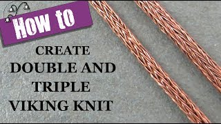 Video How to Create Double and Triple Viking Knit download MP3, 3GP, MP4, WEBM, AVI, FLV Agustus 2018