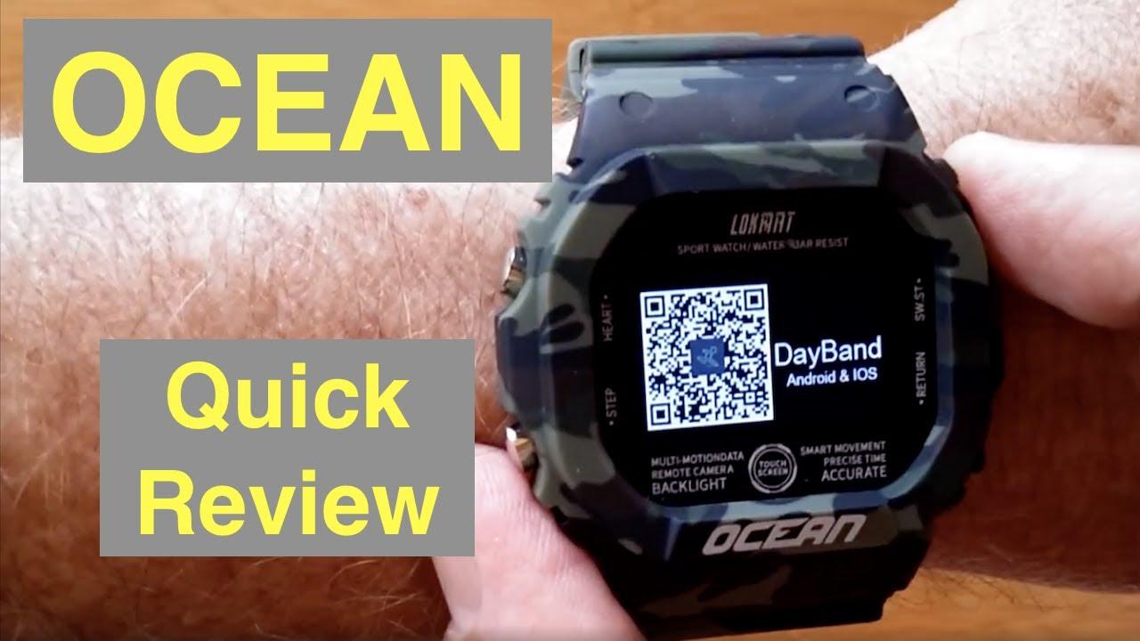 LOKMAT OCEAN IP68 Waterproof Blood Pressure Ruggedized Smartwatch: Quick Review