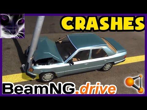 BeamNG drive - CRASHES - Mercedes 280E/320E (HD Model) [2015]