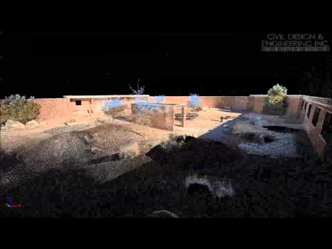 Terrestrial LiDAR Scan of a Courtyard