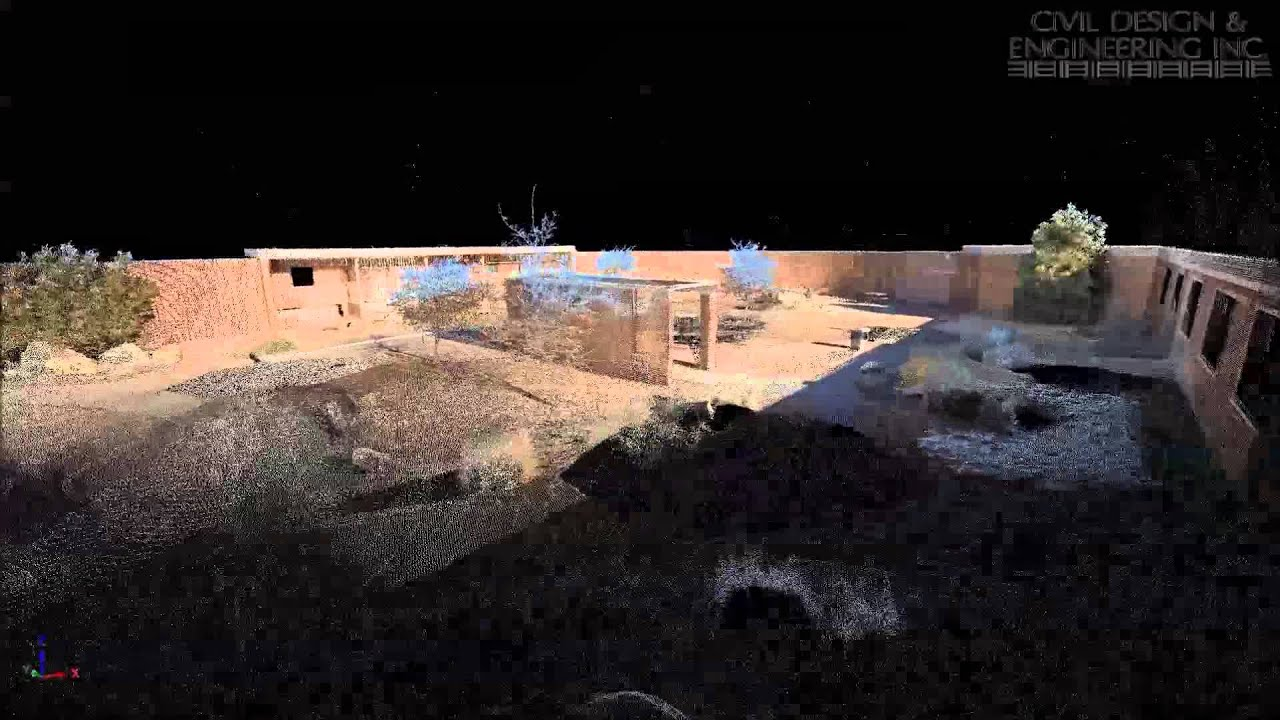 Terrestrial Lidar Scan Of A Courtyard Youtube