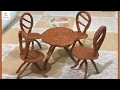 DIY Art and Craft | How to make table and chair from tissue paper(MiniCraft)