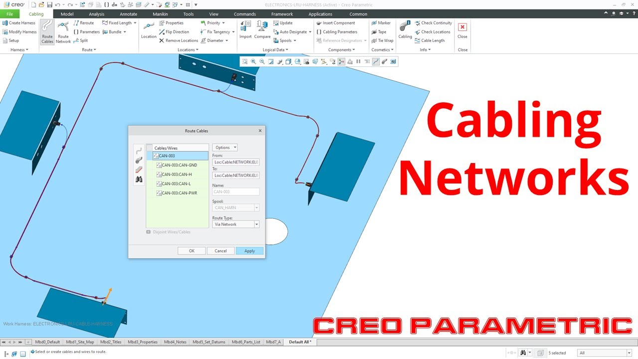 Creo Parametric - Cabling | Networks and Autorouting