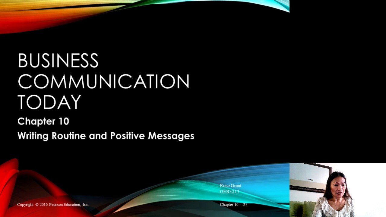business communication chapter 4 New solutions for core foundations from pearson canada  business communication essentials introduces you to the  the most extensive end-of-chapter.