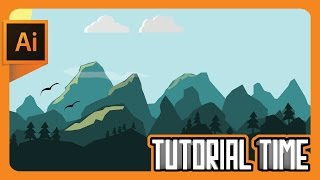 Tutorial Time : How to make Flat landscape Wallpaper (Adobe Illustrator)