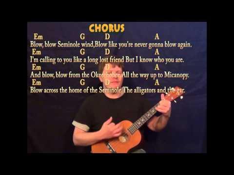 Seminole Wind - Baritone Uke - Cover Lesson with Lyrics