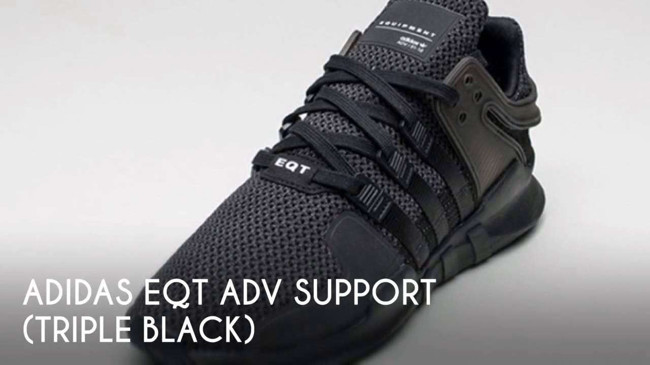 zamówienie online ekskluzywny asortyment ceny detaliczne ADIDAS EQT ADV SUPPORT (TRIPLE BLACK) / PEACE X9