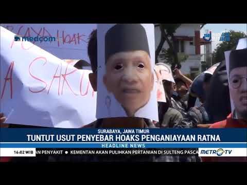 Demo Di Surabaya Tuntut Kasus Ratna Sarumpaet Dituntaskan