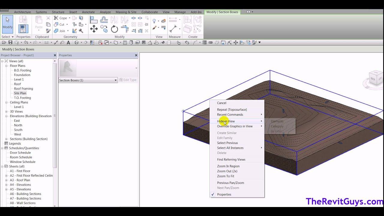 Revit Site Work - Grading Site Cut and Fill - CADtechSeminars com