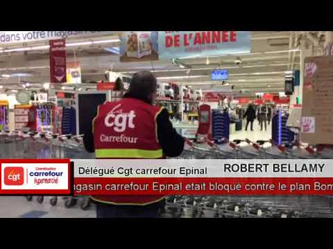 blocage du magasin carrefour pinal par le syndicat cgt carrefour contre le plan bompard youtube. Black Bedroom Furniture Sets. Home Design Ideas