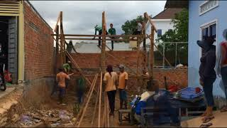 Building wooden house just one day- Time lapse video