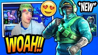 NINJA REACTS TO *NEW* EXCLUSIVE REFLEX SKIN! (BUNDLE!) Fortnite FUNNY & EPIC Moments