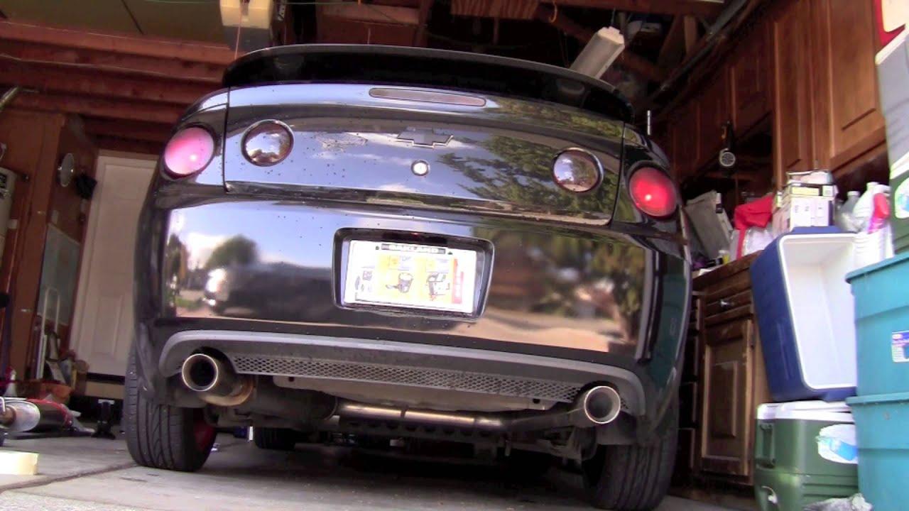 2008 chevy cobalt custom dual exhaust - YouTube