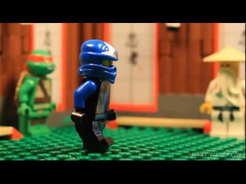 Ninjago JAY vs LEONARDO TMNT LEGO БИТВЫ #2