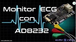 Sensor analógico para monitorear el  ritmo cardíaco (ECG) con AD8232