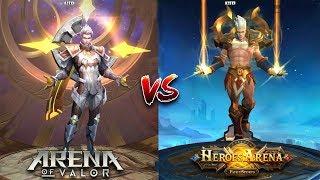 Arena of Valor VS Heroes Arena