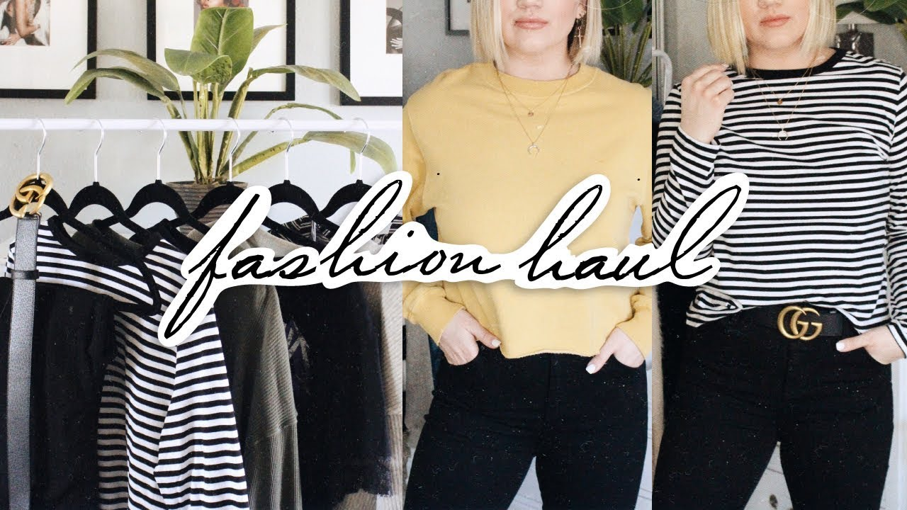 Fashion Try On Haul  Topshop Hm Gucci More