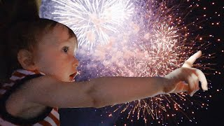 Baby's First Firework Show *Cutest Reaction Ever*   Teen Mom Vlog