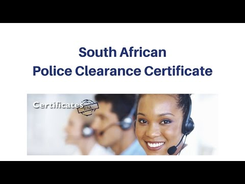 South African Police Clearance Certificate