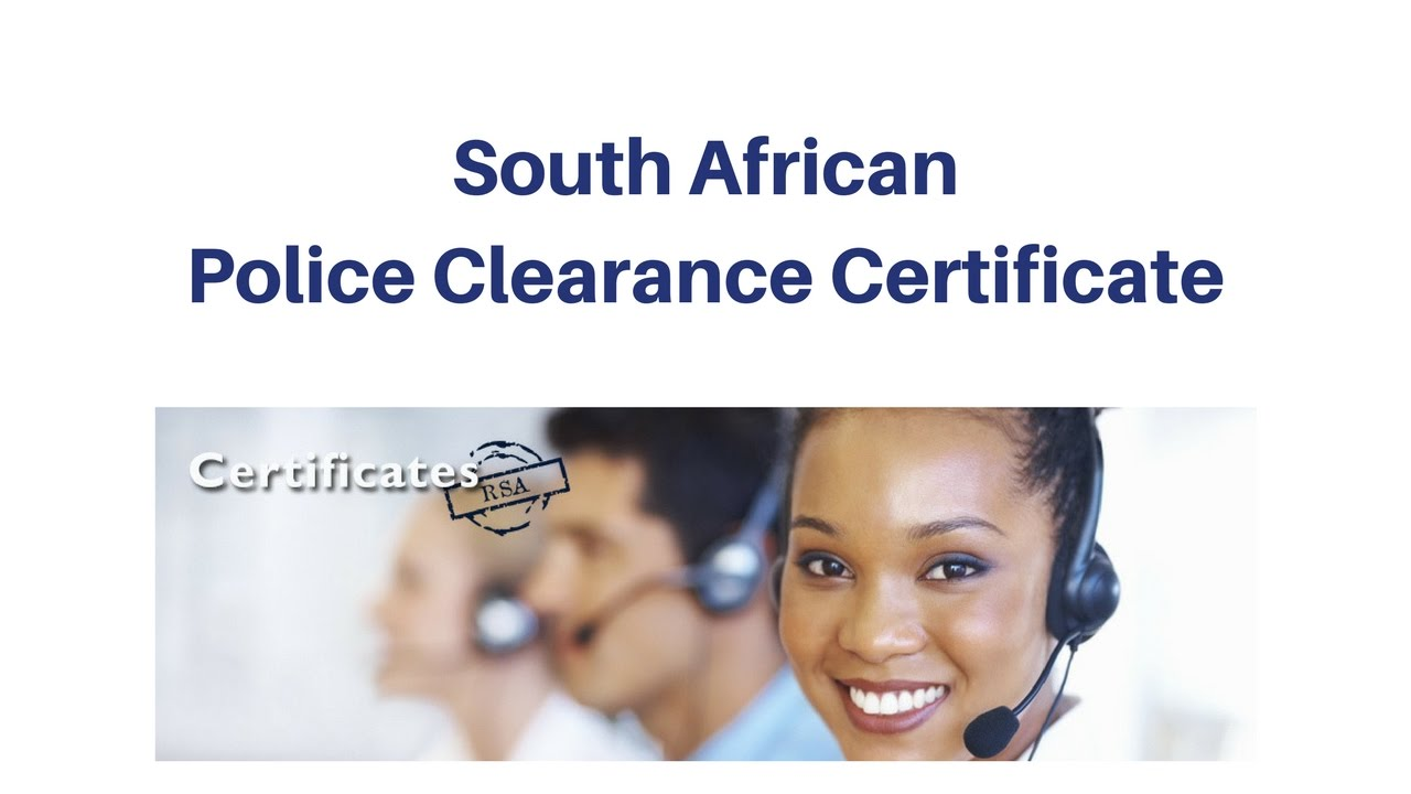 Police Clearance Certificate South Africa and Zimbabwe
