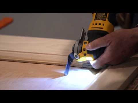 MultiTool How To's and Tips: Cutting electric outlet in a Wainscott Panel