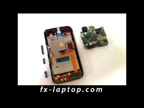 Disassembly LG GT505 - Battery Glass Screen Replacement