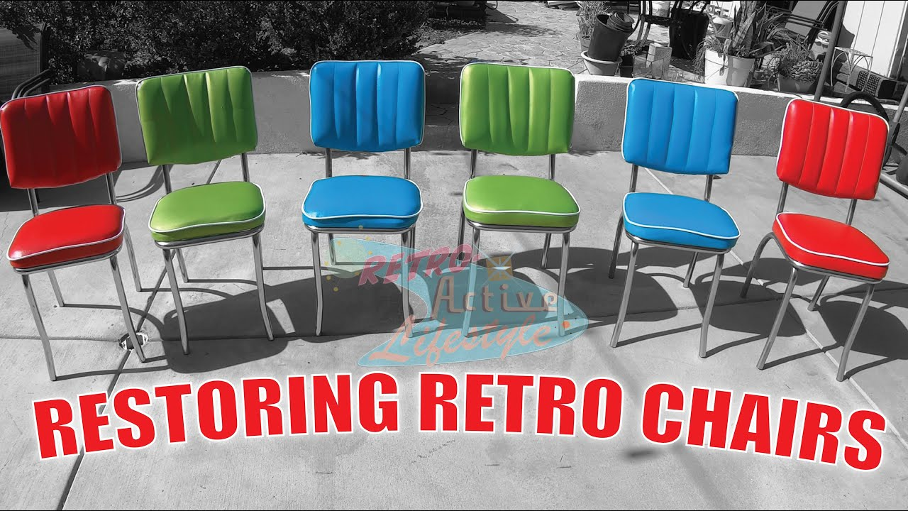 How To Re Cover Retro Vintage Diner Style Dining Chairs Youtube