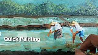 Quick Painting   Step By Step Painting   How To Paint   Easy Painting   Painting Demo   Art Candy