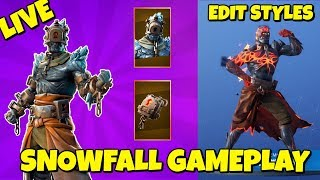 LIVE: STAGE 2 SNOWFALL SKIN GAMEPLAY 'Feuerkönig' in Fortnite