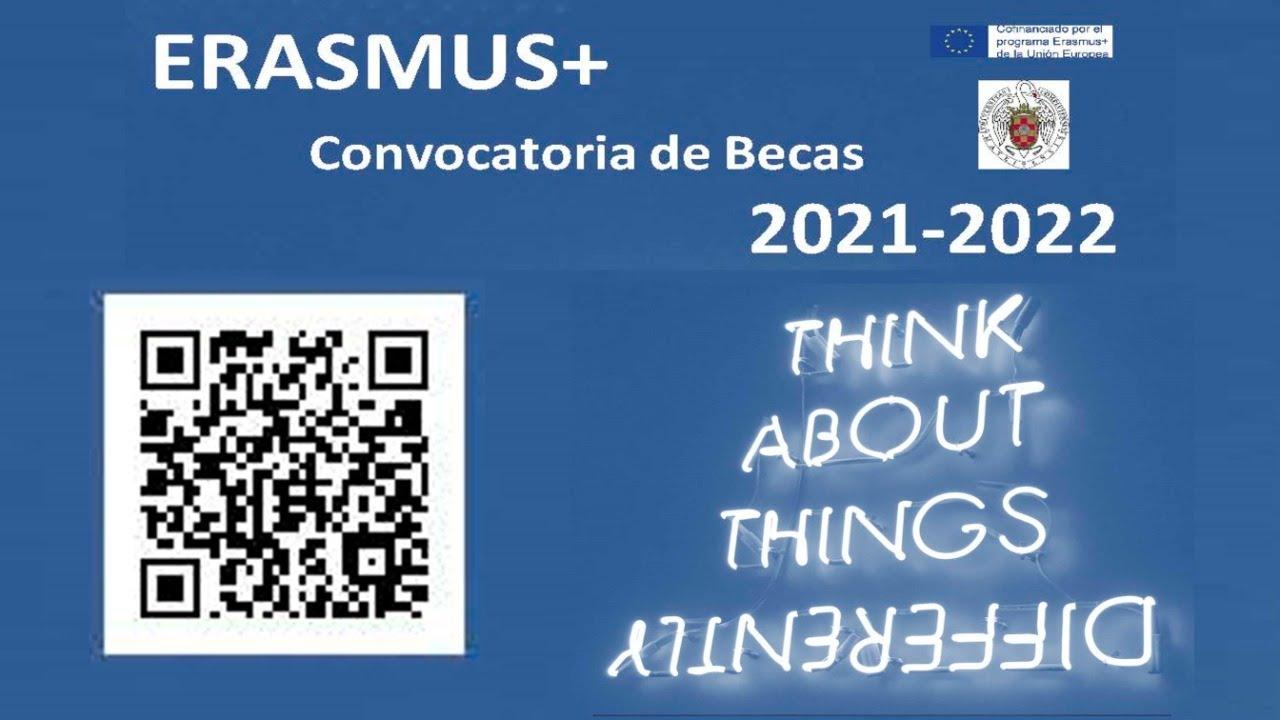 ERASMUS Convocatoria Becas 2021-2022