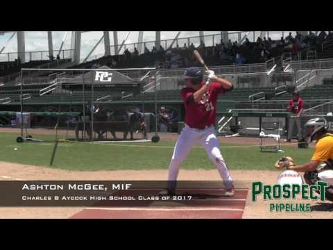 Ashton McGee Prospect Video, MIF , Charles B Aycock High School  class of 2017