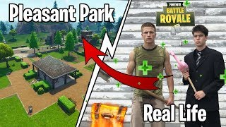 DROPPING IN REAL LIFE PLEASANT PARK! (Fortnite)