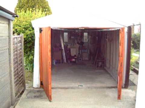 Side Hinged Garage Doors with Motor - YouTube