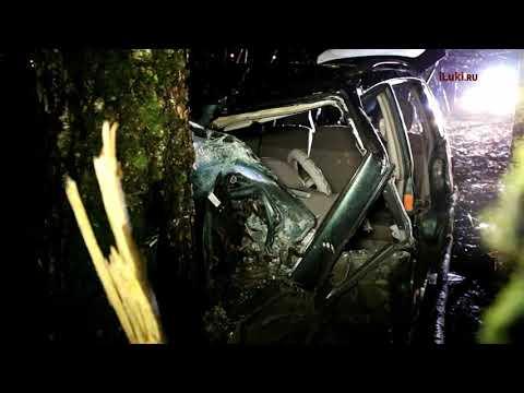 Видео с места аварии с тремя жертвами, произошедшей в Себежском районе