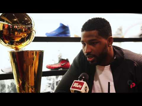 Cavs Tristan Thompson visits House of Hoops with Larry O