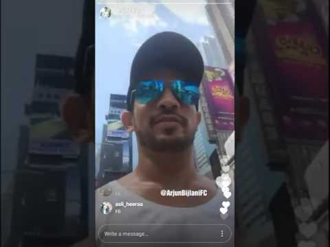 Arjun Bijlani live on Instagram from Newyork