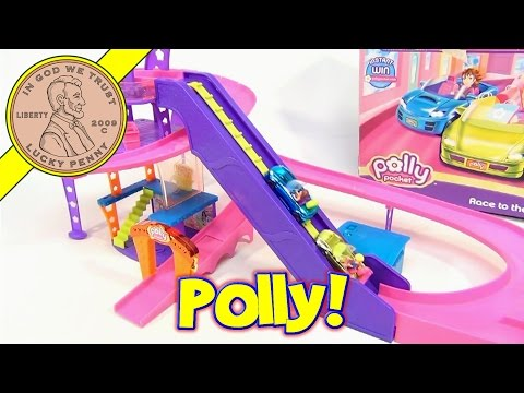 Polly Pockets Race To The Mall Track Set with Polly Wheels, 2007 Mattel Toys