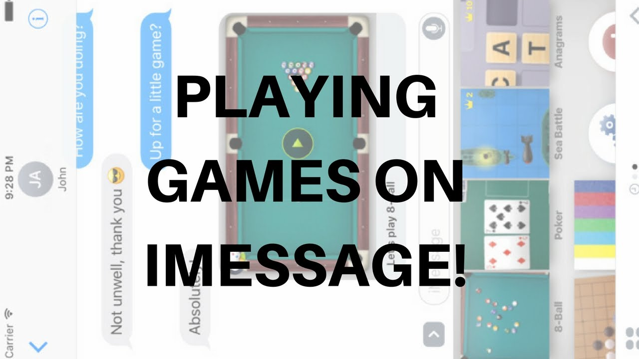 how do you play filler on imessage