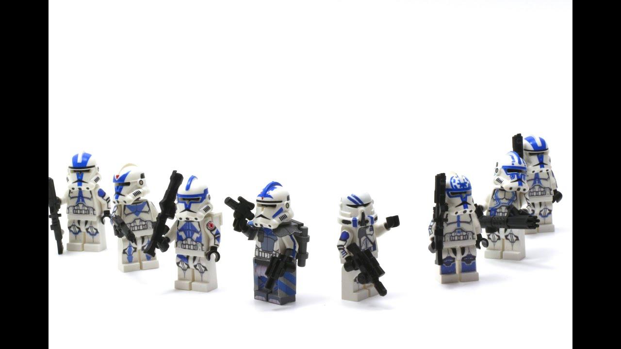 lego star wars 501st clone troopers custom highlight - youtube