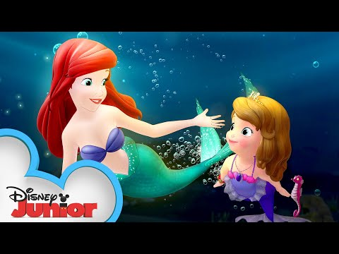 Sofia Meets Ariel! 🐟| Sofia The First | Disney Junior