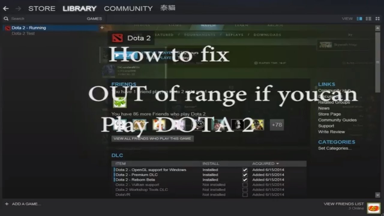 Easy !! How to FIx Out Of range resolution DOTA 2 and All GAmes From steam  2017