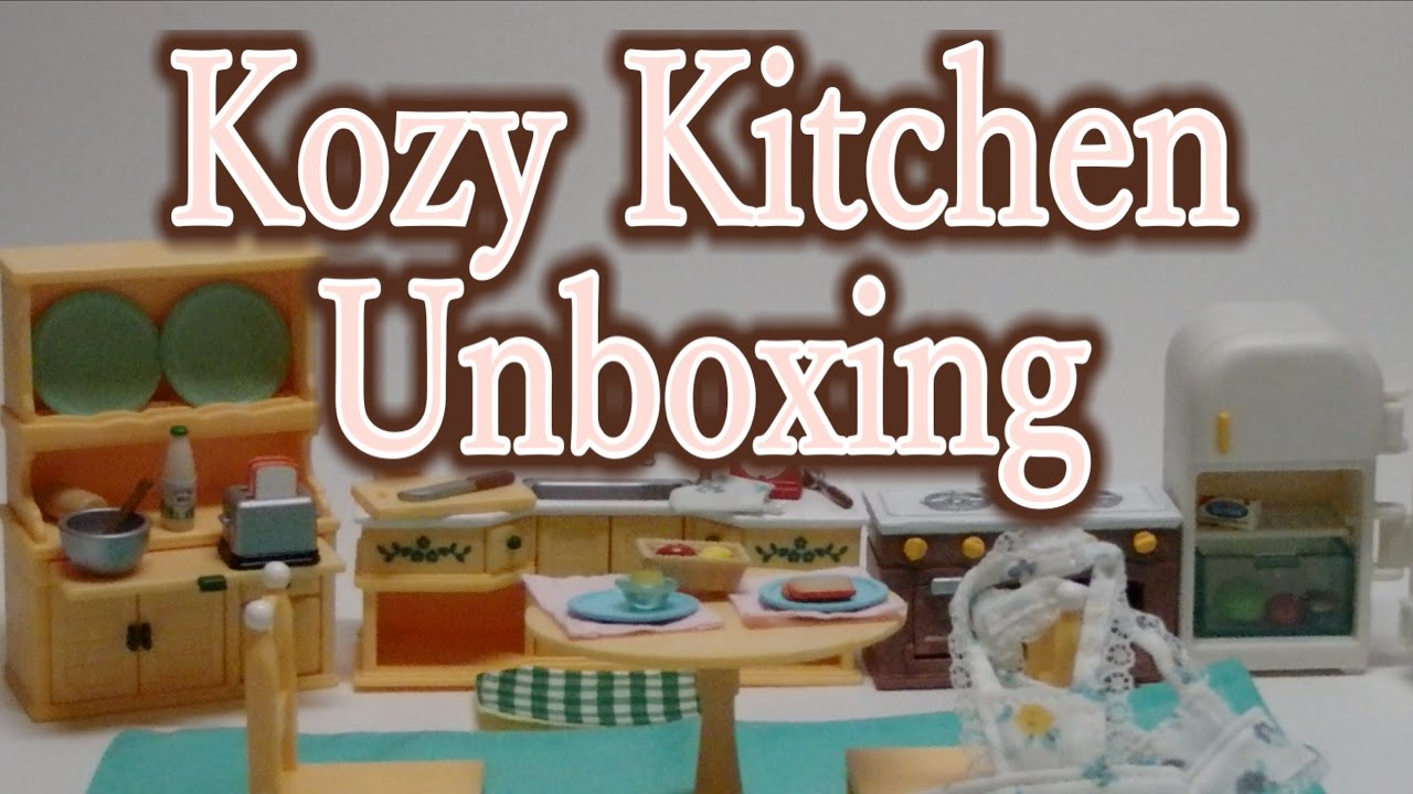 calico critters kozy kitchen unboxing youtube - Kozy Kitchen