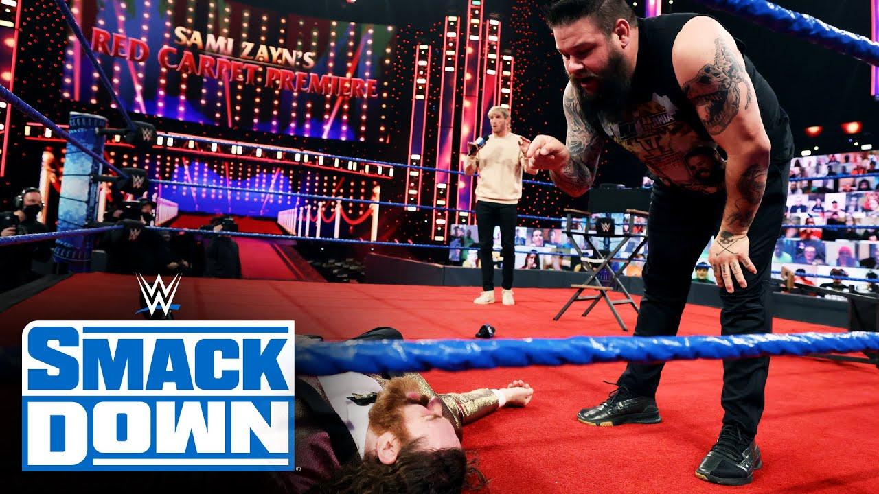 Kevin Owens invades Sami Zayn's Red Carpet Trailer Premiere: SmackDown, April 2, 2021