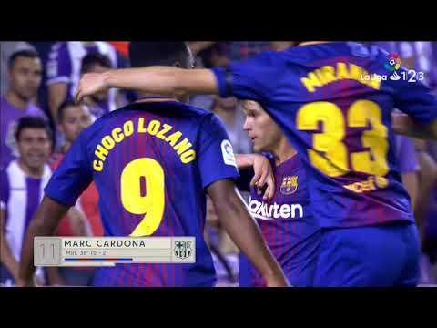 Resumen de Real Valladolid vs FC Barcelona B (1-2)