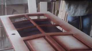 Столярные изделия покраска дверей.(, 2013-05-19T07:35:35.000Z)