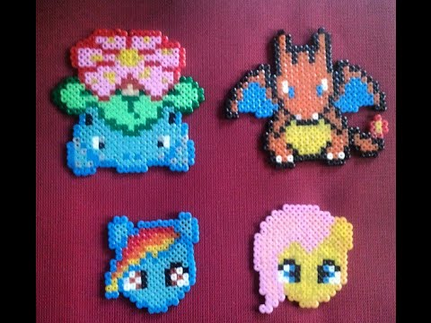 Diy My Little Pony Rainbow Dash Hama Beads Mini Youtube