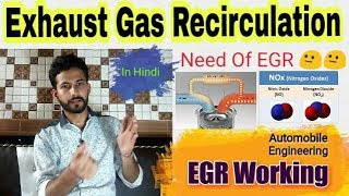 49) EGR ~ Exhaust Gas Recirculation    Need & Working - Hindi    Automobile