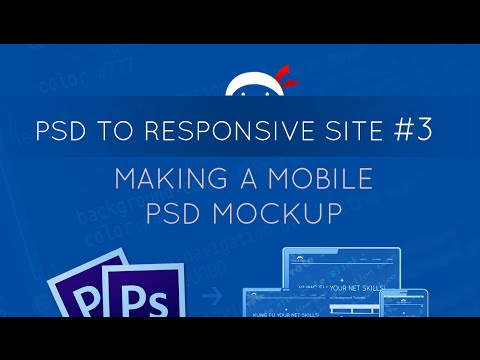 PSD To Responsive Website Tutorial #3 - Creating A Mobile PSD Mockup