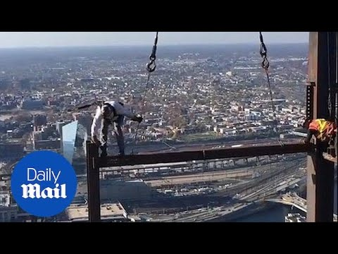 Job With A View: Ironworkers Build Philadelphia Skyscraper - Daily Mail