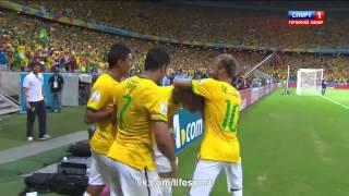 Гол Давида Луиса. Бразилия-Колумбия 2:0